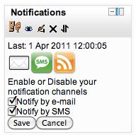 Moodle notification blok