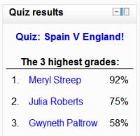 Moodle Quiz results