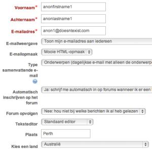 Anonieme gebruiker