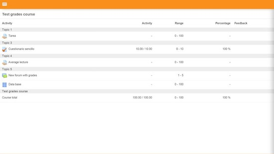 Screenshot Moodle voor Windows Phone