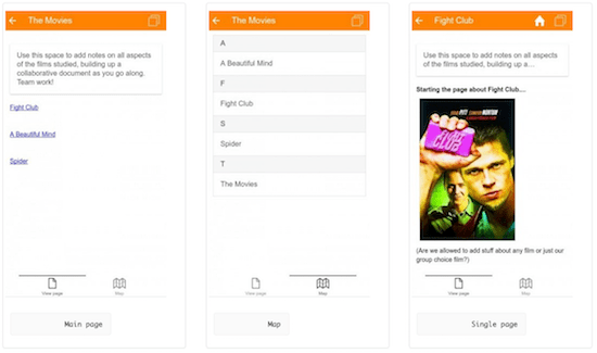 Moodle Mobile 3.0.0 with wiki.png