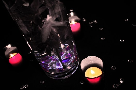 3 Candles & Centerpiece by Ave Valencia