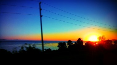 Sunset from Bus by Ave Valencia