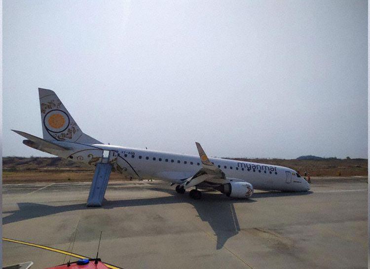XY-AGQ en la pista (Foto: Myanmar National Airlines)