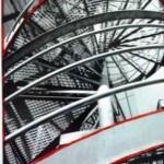 Schülerfoto zum Thema Stadtgesicht in Schwarz, Weiß und Rot