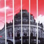 roter Himmel über dem Bode-Museum