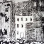 Altes Pflaster und alte Häuser