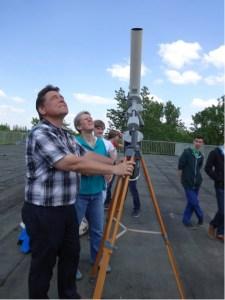 Vorbereitungen zur Beobachtung - Aufbau und Ausrichtung des Fernrohrs