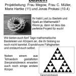 Mathematische Körper basteln, Nr. 4 - 25 Plätze