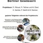 Wasserqualität und Leben im Schulteich und den Berliner Gewässern, Nr. 9 - 32 Plätze