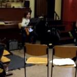 Musiker der Swing-Band bei der Probe