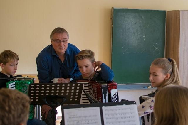 Registerprobe bei den Akkordeonisten