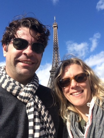 Ms.Heineman and her husband, David, in Paris.