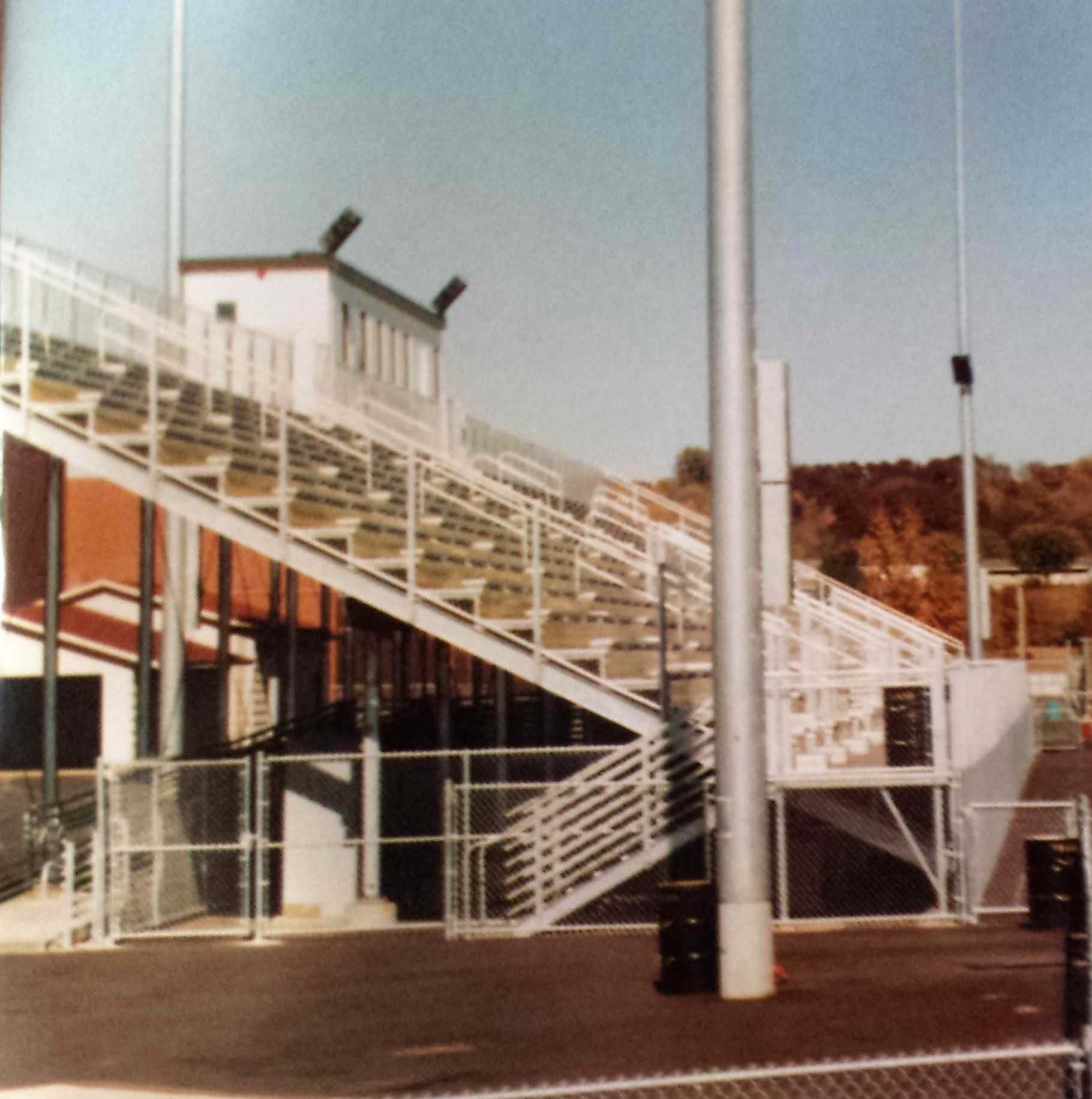 Side view of the home stands of the stadium