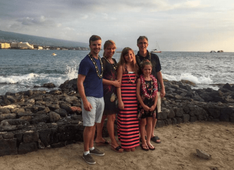 Dr. Voss and his family in Hawaii