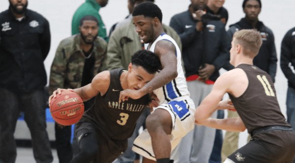 Tre Jones in game against Minneapolis North.