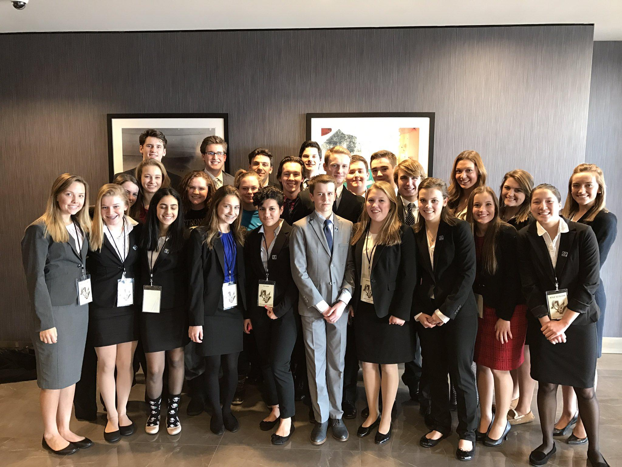 Apple Valley's strong and growing DECA chapter at districts.