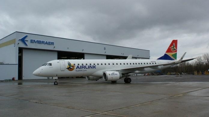 , AirLink, da África do Sul, com Embraer E-jets, Portal Aviação Brasil