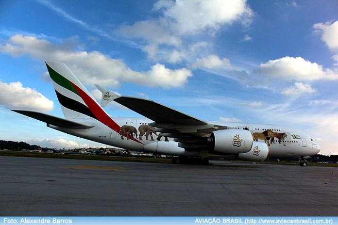 , Emirates começa seu voo regular com Airbus A380 em São Paulo, Portal Aviação Brasil