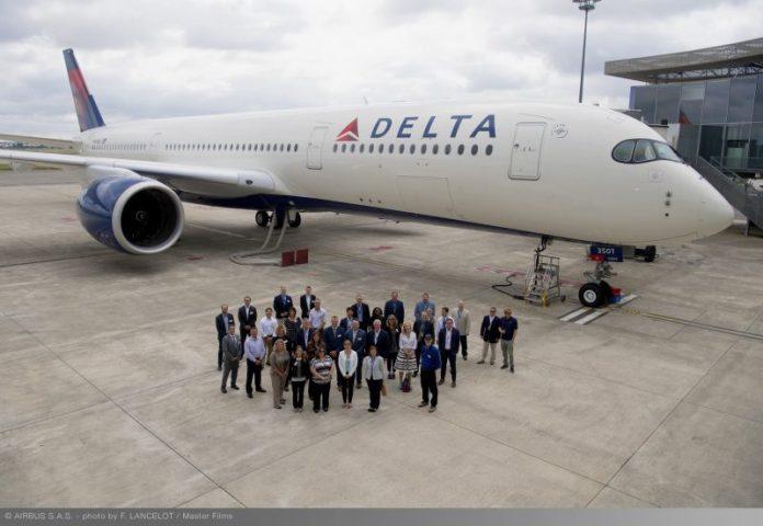 , Delta recebe seu primeiro Airbus A350-900, Portal Aviação Brasil