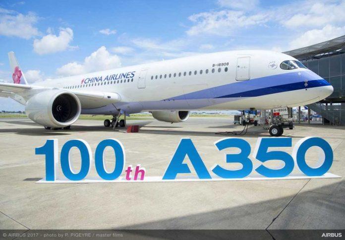 , Airbus entrega a China Airlines seu A350 XWB de número 100!, Portal Aviação Brasil