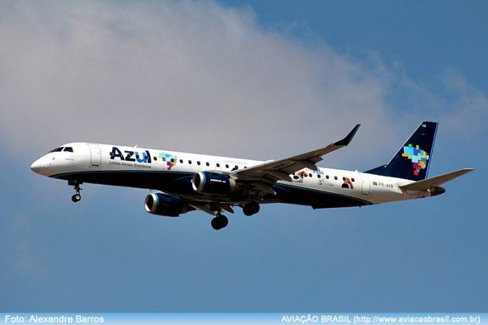Azul; Sorriso;Embraer, Azul operará com Embraer 195 em Sorriso, Portal Aviação Brasil