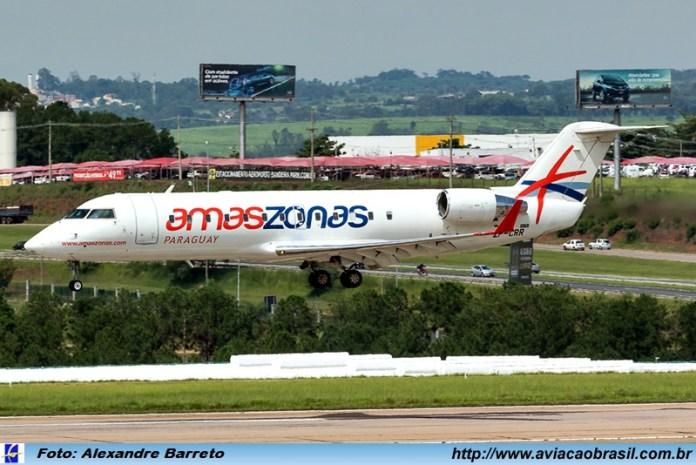 Amaszonas del Paraguay, Amaszonas del Paraguay chega a São Paulo, Portal Aviação Brasil