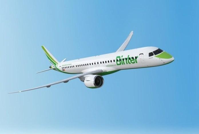 , Espanhola Binter Canarias receberá seu primeiro Embraer E195-E2 em 2019, Portal Aviação Brasil