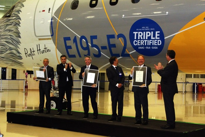 Embraer, Embraer E195-E2 recebe certificações da ANAC, FAA e EASA, Portal Aviação Brasil