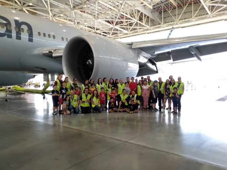 American Airlines abre Boeing 777 para crianças em GRU