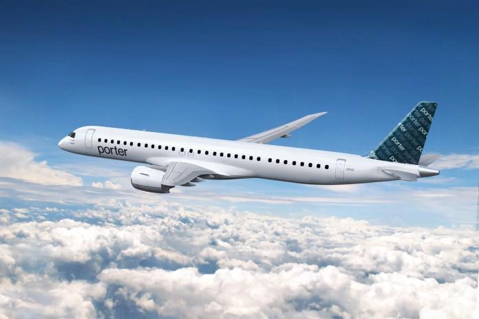 Ações da Embraer disparam 8,18% com encomenda de 80 jatos E195-E2 da Porter Airlines