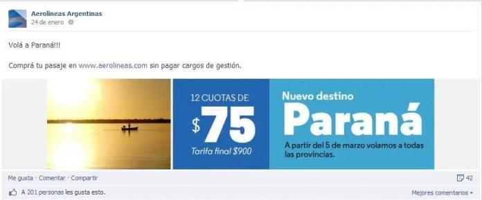 AR Facebook Parana