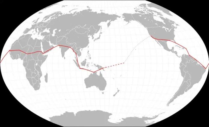 La ruta realizada por Amelia Earhart y Fred Nooan