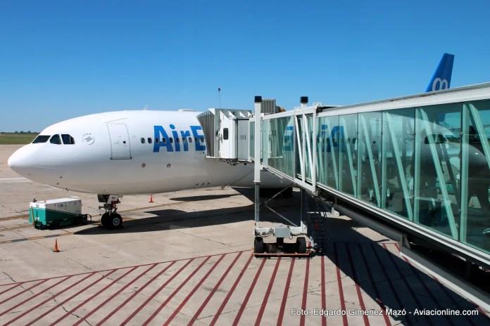 Airbus A330-200 EC-JQG de Air Europa en el aeropuerto de Córdoba