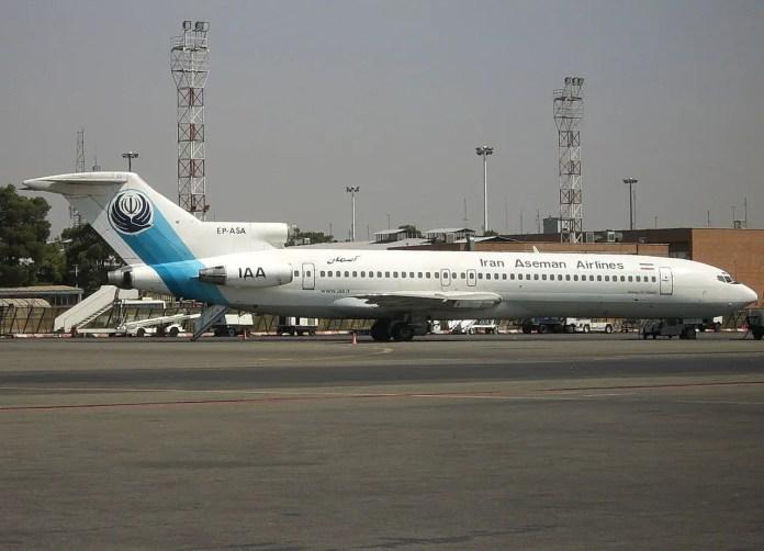 Iran Aseman Airlines es una de las últimas operadoras del 727-200 del mundo, con un promedio de edad de 36,9 años (Foto: Wikimedia Commons)