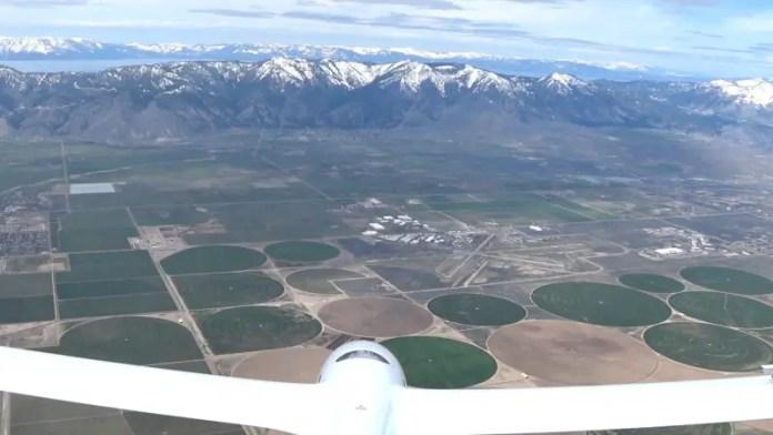 El Perlan 2 sobre la Sierra Nevada el pasado 22 de abril