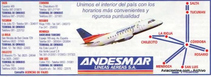 Publicidad de Andesmar - 1998.