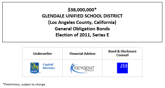 $38,000,000* GLENDALE UNIFIED SCHOOL DISTRICT (Los Angeles County, California) General Obligation Bonds Election of 2011, Series E  POS POSTED 9-30-20