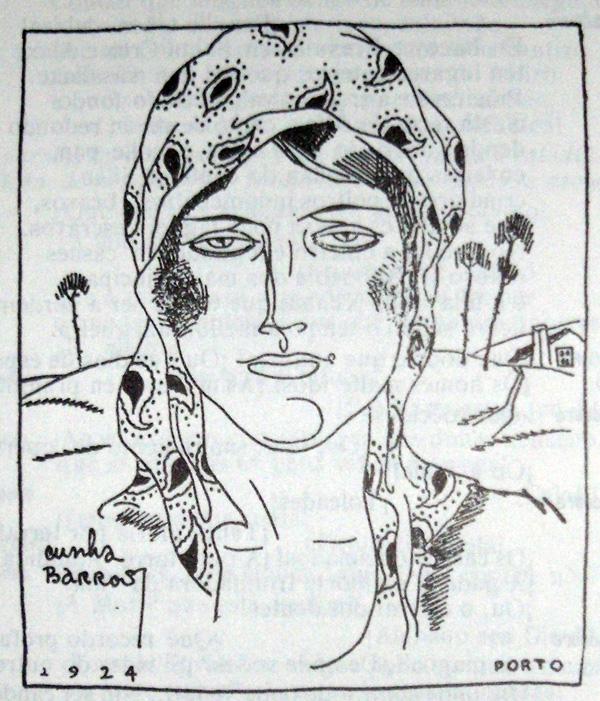 Ilustração do artista português Cunha Barros na revista galega Ronsel, n.º 5, 1924.