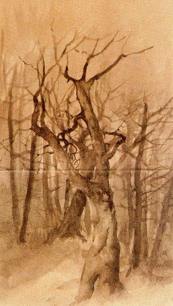 """""""Árvores em inverno"""" - Ovídio Murguia de Castro (1871-1900)"""