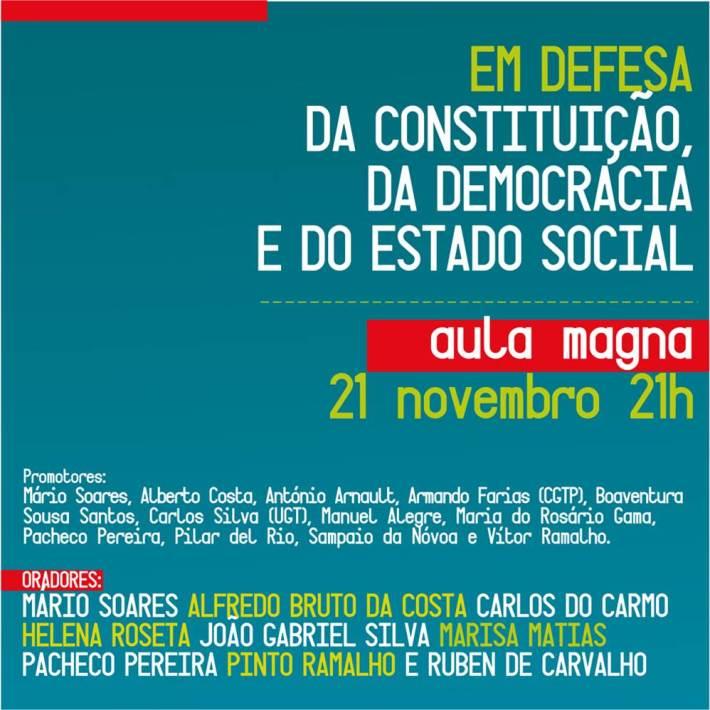Aula Magna, 21 de Novembro