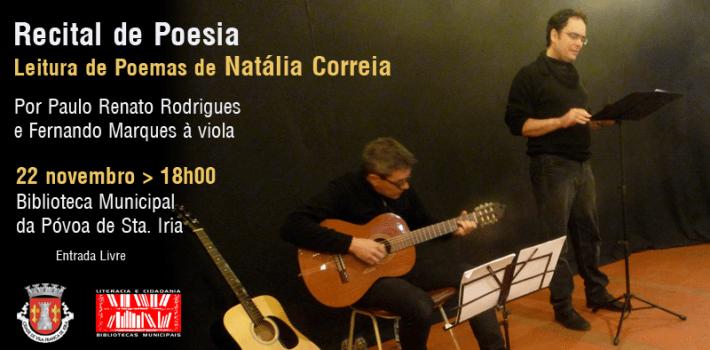 Leitura de poemas de Natália Correia