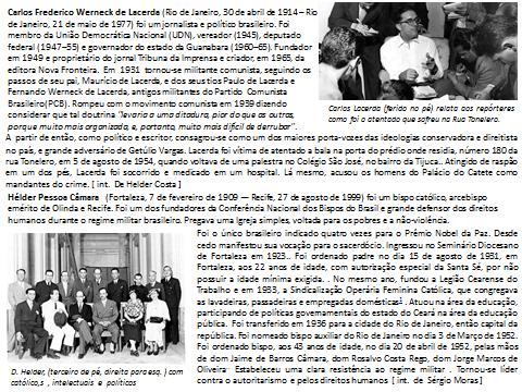 Encontro Imaginário - Carlos Lacerda e Hélder Câmara - II