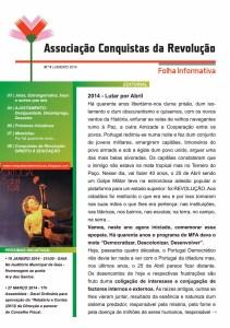 Folha informativa da Associação Conquistas de Abril