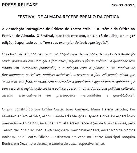Press release - 10Fevereiro2014