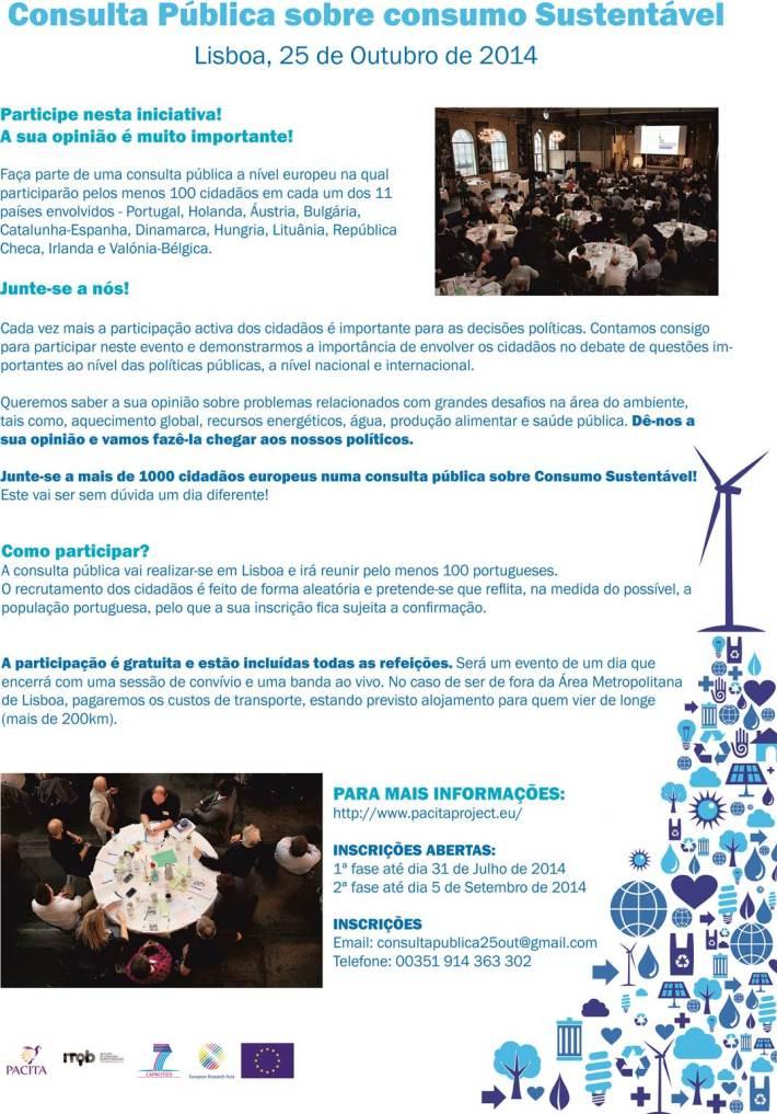 Consulta pública sobre consumo sustentável