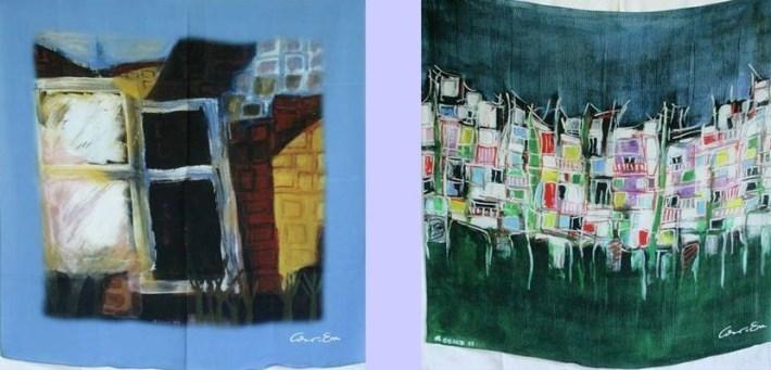 lenços e arte