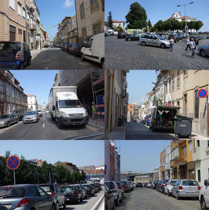 Carros na Zona Oriental da Cidade do Porto