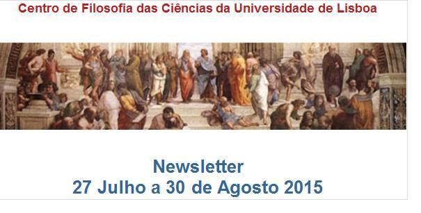 Newsletter - 27 de Julho a 30 de Agosto de 2015