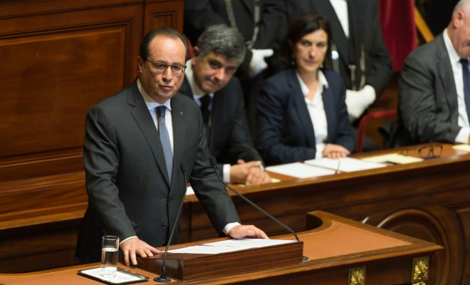 François Hollande no Congresso